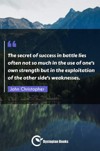 The secret of success in battle lies often not so much in the use of one's own strength but in the exploitation of the other side's weaknesses.