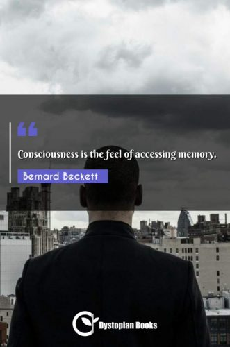 Consciousness is the feel of accessing memory.