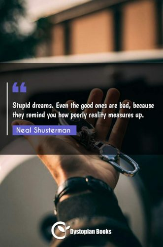 Stupid dreams. Even the good ones are bad, because they remind you how poorly reality measures up.