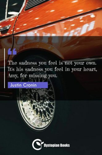The sadness you feel is not your own. It's his sadness you feel in your heart, Amy, for missing you.