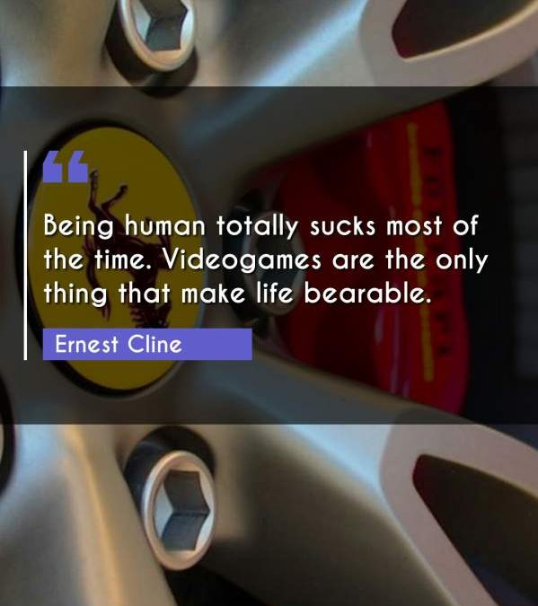 Being human totally sucks most of the time. Videogames are the only thing that make life bearable.