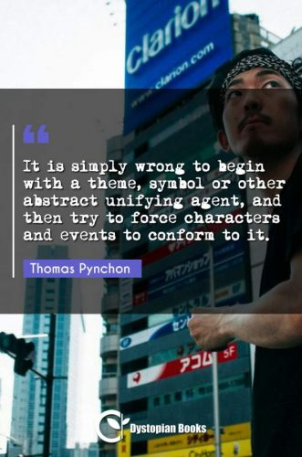 It is simply wrong to begin with a theme, symbol or other abstract unifying agent, and then try to force characters and events to conform to it.
