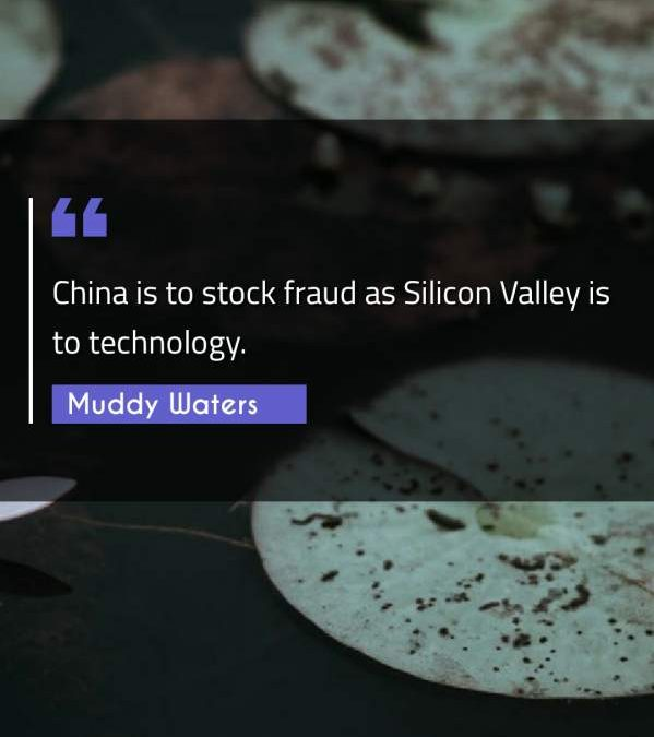 China is to stock fraud as Silicon Valley is to technology.