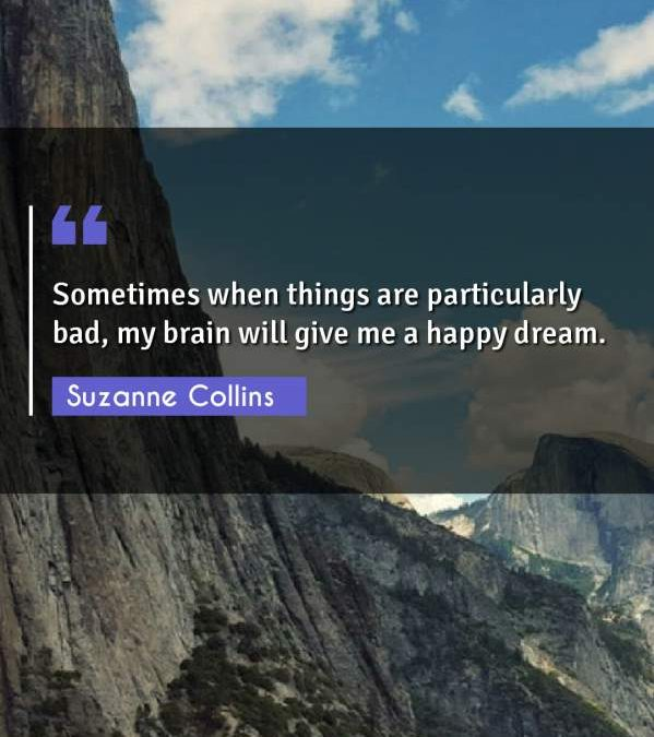 Sometimes when things are particularly bad, my brain will give me a happy dream.