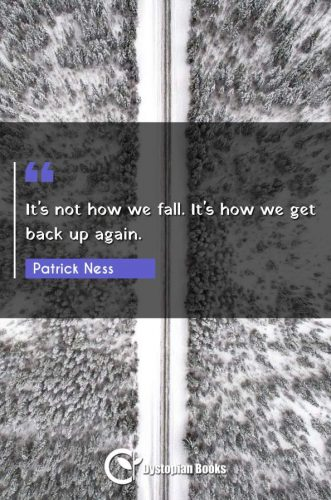 It's not how we fall. It's how we get back up again.