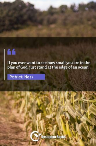 If you ever want to see how small you are in the plan of God, just stand at the edge of an ocean.