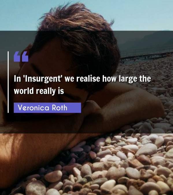 In 'Insurgent' we realise how large the world really is