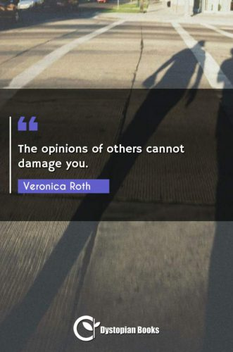 The opinions of others cannot damage you.