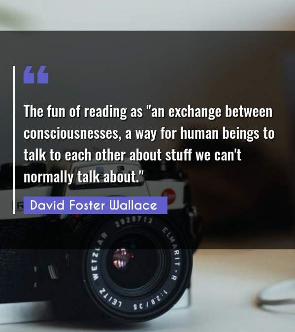 The fun of reading as an exchange between consciousnesses