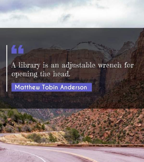 A library is an adjustable wrench for opening the head.