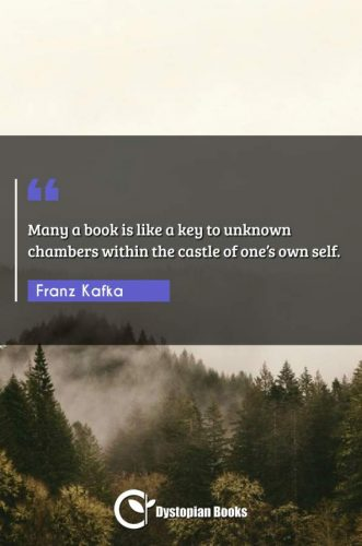 Many a book is like a key to unknown chambers within the castle of one's own self.