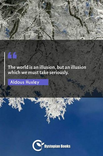 The world is an illusion, but an illusion which we must take seriously.