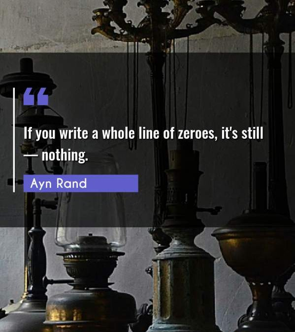 If you write a whole line of zeroes, it's still — nothing.