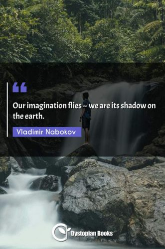Our imagination flies -- we are its shadow on the earth.