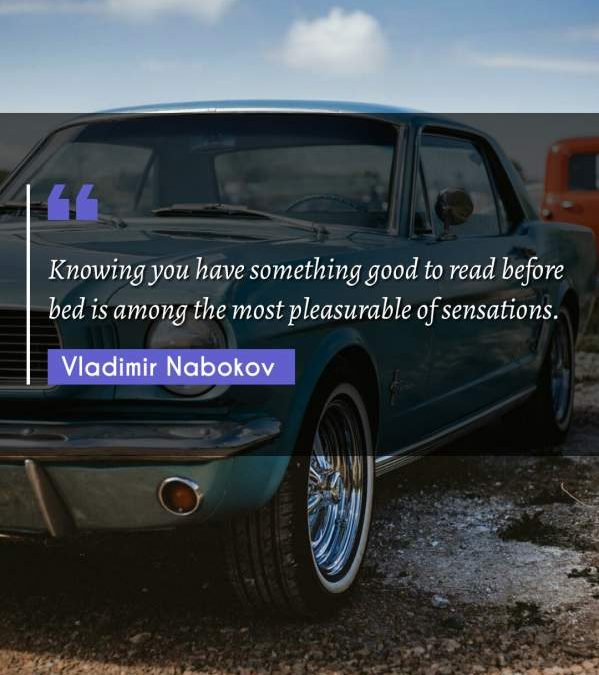 Knowing you have something good to read before bed is among the most pleasurable of sensations.