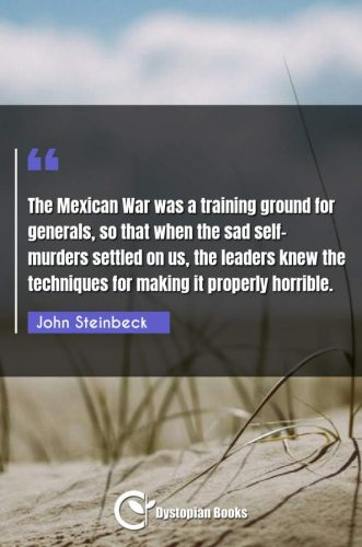 The Mexican War was a training ground for generals, so that when the sad self-murders settled on us, the leaders knew the techniques for making it properly horrible.