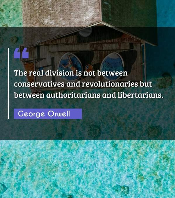 The real division is not between conservatives and revolutionaries but between authoritarians and libertarians.