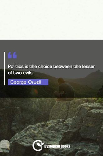 Politics is the choice between the lesser of two evils.